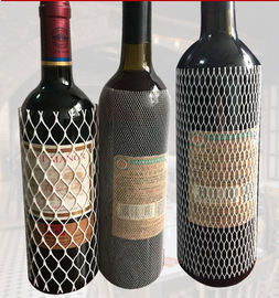 PE Protective Mesh Bottle Sleeves , Plastic Mesh Sleeving For Wine Bottle Net Set