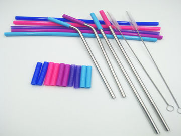 Rubber Sleeve Flexible Silicone Tubing Food Grade For Stainless Steel Straw