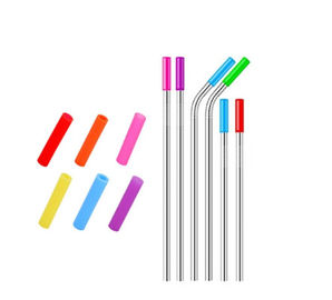 FDA Food Grade Flexible Silicone Tubing Round Shape For Stainless Steel Straw